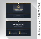 business model name card luxury ... | Shutterstock .eps vector #1147257794