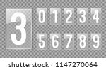 white digits on transparent...   Shutterstock .eps vector #1147270064