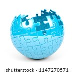 spherical puzzle with missing... | Shutterstock . vector #1147270571