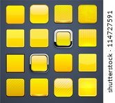 set of blank yellow square...