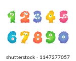 cartoon stylized numbers.... | Shutterstock .eps vector #1147277057