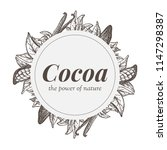 wreath with cocoa and vanilla... | Shutterstock .eps vector #1147298387