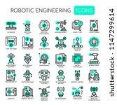 robotic engineering   thin line ... | Shutterstock .eps vector #1147299614