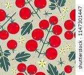 tomato cherry seamless pattern. ...   Shutterstock .eps vector #1147301447