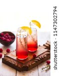 summer refreshing non alcoholic ...   Shutterstock . vector #1147302794