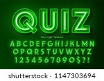 neon light 3d alphabet  extra... | Shutterstock .eps vector #1147303694