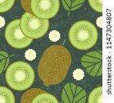 kiwi seamless pattern. whole...   Shutterstock .eps vector #1147304807