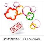 vector pepper rings.vector... | Shutterstock .eps vector #1147309601