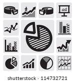 vector black business chart...