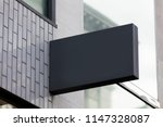 blank sign outside a shop or... | Shutterstock . vector #1147328087