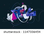 abstract stylish 3d composition ... | Shutterstock . vector #1147336454