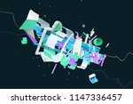 abstract stylish 3d composition ... | Shutterstock . vector #1147336457