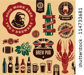 beer pub labels  badges and... | Shutterstock .eps vector #114733681