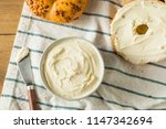 homemade low fat cream cheese... | Shutterstock . vector #1147342694