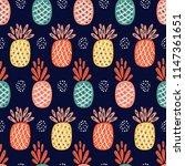 fruit vector background with... | Shutterstock .eps vector #1147361651