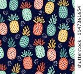 fruit vector background with... | Shutterstock .eps vector #1147361654