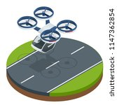 isometric modern futuristic air ... | Shutterstock .eps vector #1147362854
