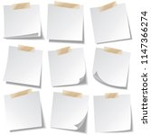 sticky paper note with tape and ... | Shutterstock .eps vector #1147366274