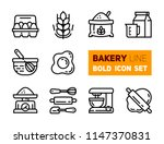 outline icons set of bakery... | Shutterstock .eps vector #1147370831