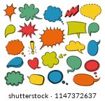 vector colorful speech bubbles... | Shutterstock .eps vector #1147372637