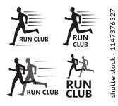 graphic run club  vector | Shutterstock .eps vector #1147376327