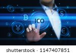 ico initial coin offering... | Shutterstock . vector #1147407851