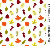 seamless pattern autumn... | Shutterstock .eps vector #1147408391