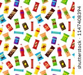 seamless pattern snack product... | Shutterstock .eps vector #1147408394