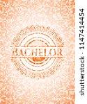 bachelor orange mosaic emblem...   Shutterstock .eps vector #1147414454
