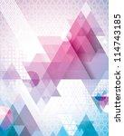magenta triangles | Shutterstock .eps vector #114743185