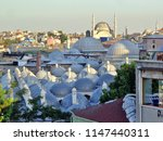 blue ottoman domes  rooftops of ... | Shutterstock . vector #1147440311