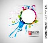 eps10 vector abstract ink... | Shutterstock .eps vector #114744121