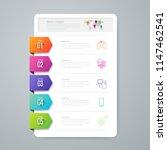 infographics design vector and...   Shutterstock .eps vector #1147462541
