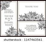 romantic wedding invitation... | Shutterstock .eps vector #1147463561