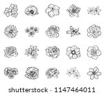flowers set. collection of... | Shutterstock .eps vector #1147464011