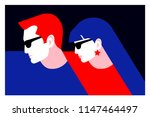 couple in love. two lovers  man ... | Shutterstock .eps vector #1147464497