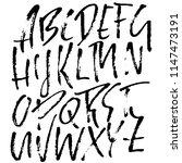 hand drawn modern dry brush...   Shutterstock .eps vector #1147473191