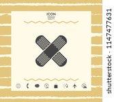 cross adhesive bandage  medical ... | Shutterstock .eps vector #1147477631