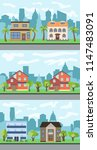 set of three vector... | Shutterstock .eps vector #1147483091