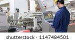 industry 4.0 robot concept ...   Shutterstock . vector #1147484501