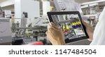 industry 4.0 robot concept ... | Shutterstock . vector #1147484504