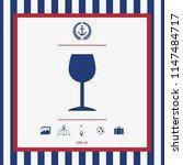wineglass icon symbol | Shutterstock .eps vector #1147484717