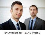 two businessman  business team... | Shutterstock . vector #114749857