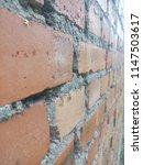 an old brick wall. ancient... | Shutterstock . vector #1147503617