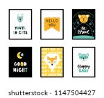colorful childish vector cards... | Shutterstock .eps vector #1147504427