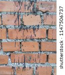 old wall made of red brick.... | Shutterstock . vector #1147506737