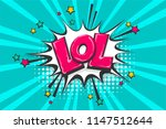 lol funny  wow comic text... | Shutterstock .eps vector #1147512644