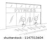 gym exterior graphic black... | Shutterstock .eps vector #1147513604