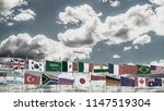 g20 summit flag silk waving... | Shutterstock . vector #1147519304