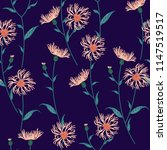 seamless floral pattern with... | Shutterstock .eps vector #1147519517